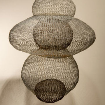 Ruth Asawa, Untitled (S.372), circa 1954, iron wire, 30 × 24 × 24 inches. Black Mountain College Collection, gift of Lorna Blaine Halper, 2007.27.09.33. © Estate of Ruth Asawa.