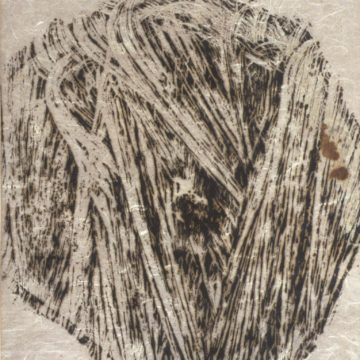 Thelma Bennett, Striae, circa 1963, woodcut on paper, 22 1/2 x 20 inches. Gift of the artist, 1963.1.65