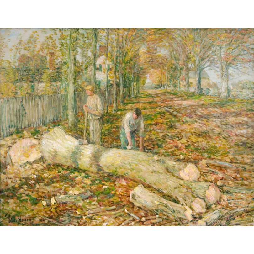 Childe Hassam,The Old Elm, 1916, oil on canvas, 29 x 37 inches. Gift of Mrs. Charles M. Butler, 1991.14.1.21.