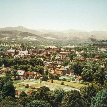 William Henry Jackson, Asheville, NC, 1902, photochrom on paper, 7 × 9 inches. Museum purchase, 1996.03.95.