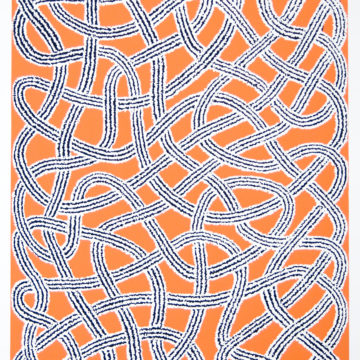 Anni Albers, Untitled from the Connections Portfolio, 1983, screenprint on paper, 20 5/8 × 15 1/4 inches, edition 25/120. Black Mountain College Collection, gift of The Josef and Anni Albers Foundation, 1997.01.03.65E. © The Josef and Anni Albers Foundation / Artists Rights Society (ARS), New York.