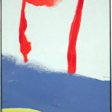 Helen Frankenthaler, Summer of Apollo in Provincetown, Mass., 1969, oil on canvas, 17 ⅞ × 14 inches. Gift of Joyce Cole, 2002.19.21. © The Helen Frankenthaler Foundation / Artists Rights Society (ARS), New York.