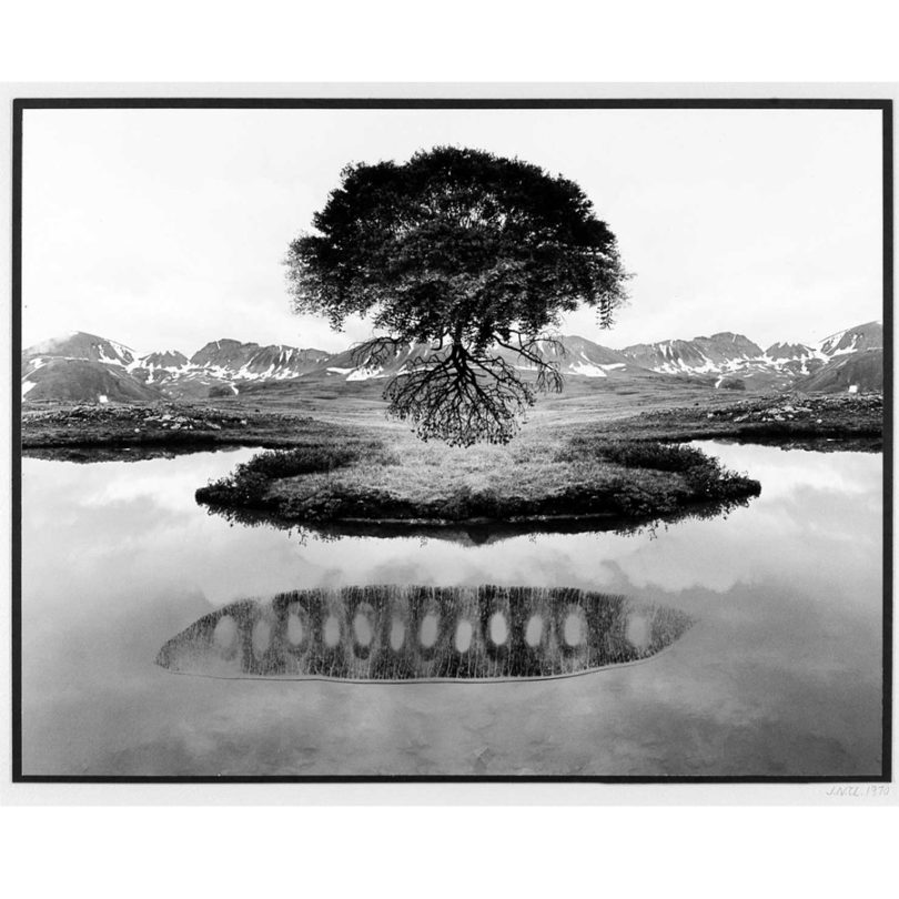 Jerry N. Uelsmann, Untitled, 1970, gelatin silver print on paper, 10 ½ × 13 ¾ inches. Collection of the Asheville Art Museum. Gift of Ray Griffin in honor of Frank Thomson, 2005.01.91. ©Jerry N. Uelsmann