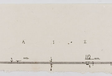 John Cage, Haiku, 1952, zinc line cut on kochi paper, 4 ¼ × 12 ⅞ inches. Museum purchase with funds provided by 2006 Collectors' Circle members Rob Pulleyn, Cherry & Paul Lentz Saenger, 2006.32.60a. © John Cage Trust