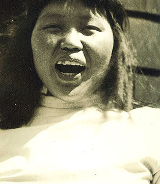 Hazel Larsen Archer, Portrait of Ruth Asawa, 1947, gelatin silver print, 5 ⅜ × 3 ⅜ inches. Black Mountain College Collection, gift of Michael & Catherine Urbain, 2012.21.14.91. © Estate of Hazel Larsen Archer