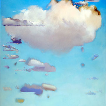 Jacqueline Herrmann Gourevitch, Cloud Painting #94, circa 1980, oil on canvas, 68 ¼ × 44 inches. Black Mountain College Collection, gift of the Artist, 2012.36.21. © Jacqueline Gourevitch
