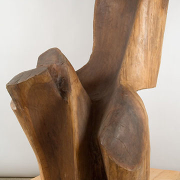 Raoul Hague, Rainbow Lake, 1980, carved walnut, 68 × 48 × 44 inches. Gift of the Raoul Hague Foundation, 2012.52.32. © Raoul Hague Foundation / Artists Rights Society (ARS), New York