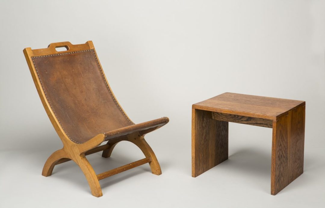 Stool and Lazy-J Chair