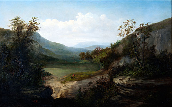 William C.A. Frerichs, Western North Carolina Landscape, circa 1860, oil on canvas, 30 × 38 inches. Museum purchase with the assistance of the 2011 Collectors' Circle, 2012.25.01.21.