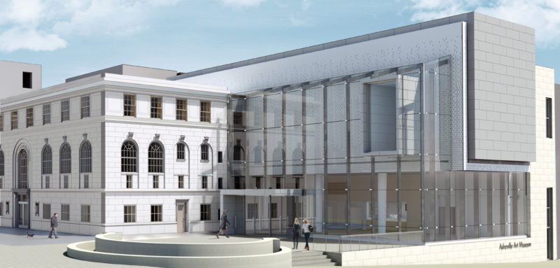Rendering of the new Asheville Art Museum