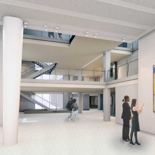 New Asheville Art Museum rendering of interior