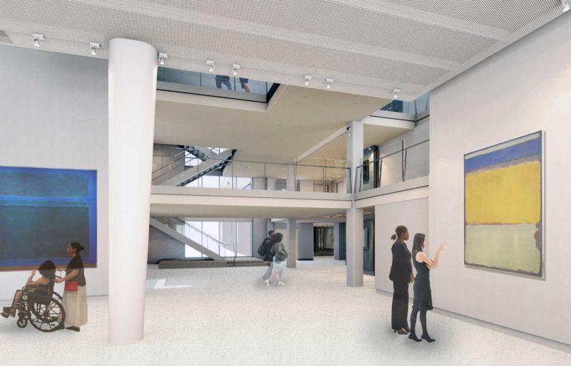 New Asheville Art Museum rendering of interior
