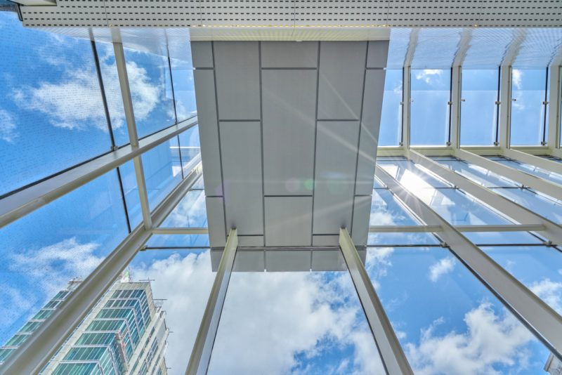 Looking up in the atrium. Credit: David Huff Creative