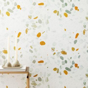 Digital terrazzo wallpaper from West Elm