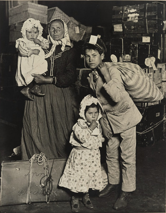 Italian Family Looking for Lost Baggage, Ellis Island