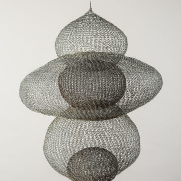 Ruth Asawa, Untitled (S.372), circa 1954, iron wire, 30 × 24 × 24 inches. Black Mountain College Collection, gift of Lorna Blaine Halper, 2007.27.09.33. © Estate of Ruth Asawa