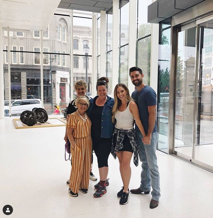 Megan and Kyle touring the Museum with family and Shea Brown.