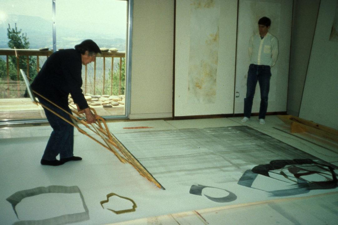 John CagepaintingatTheMountain Lake Workshop