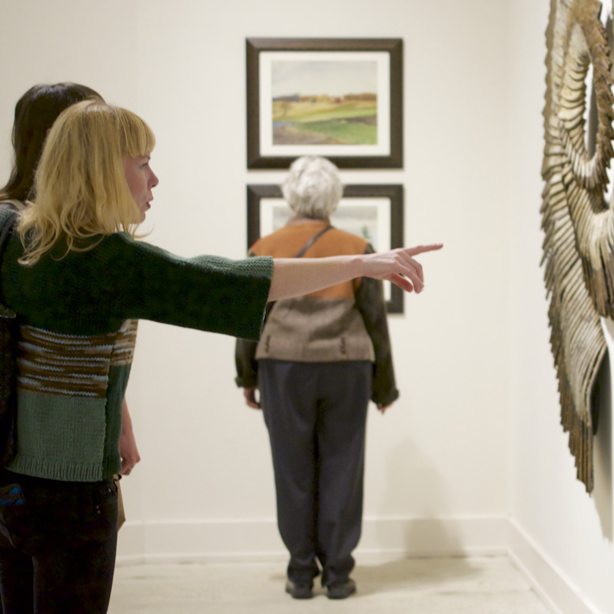 Visitors in the museum's galleries