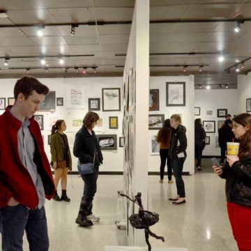 Group viewing exhibition