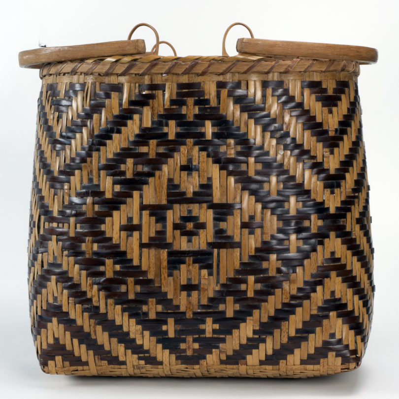 A basket featured in the exhibition.