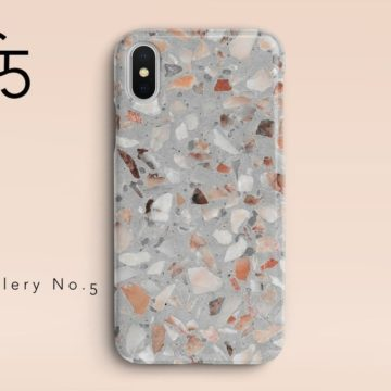 Terrazzo iPhone case from Gallery No. 5 on Etsy