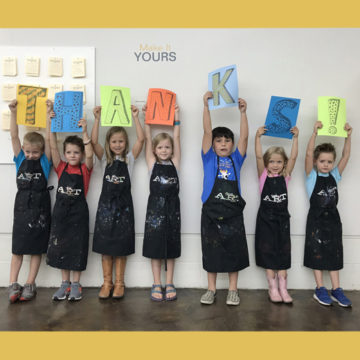 The Museum's summer art campers say thanks.