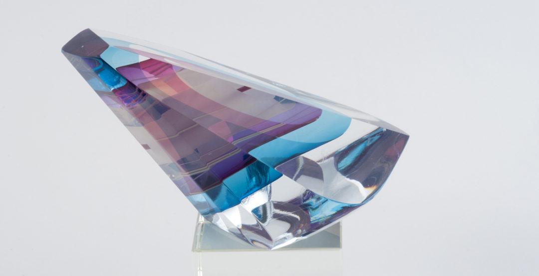 A glass artwork by Harvey Littleton.