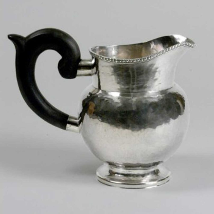 A sliver pitcher by William Dodge Jr.